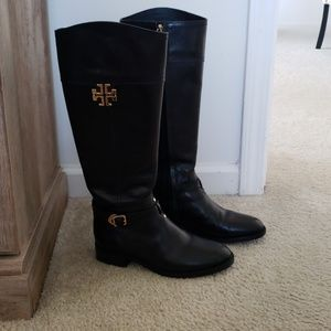 🌸LIKE NEW! TORY BURCH black boots